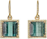 Irene Neuwirth Diamond Collection Women's White Diamond & Tourmaline Square-Drop Earrings
