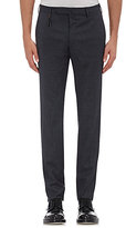 Incotex MEN'S MICRO-CHECKED TROUSERS-NAVY, DARK GREY, BLUE SIZE 30