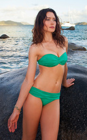 Voda Swim Kelly Green Shirred Band Bottom