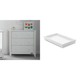 O Baby Obaby Belton Chest of Drawers and Multi Top Changer - White