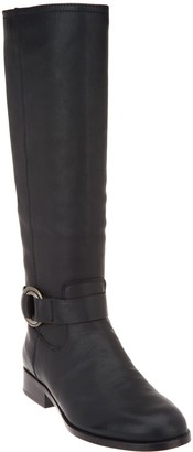 Frye & co. Wide Calf Leather Side Zip Tall Boots - Adelaide
