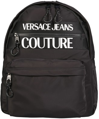Versace Jeans Couture Backpack With Logo Print