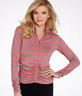 Calvin Klein Striped Ruched Jacket