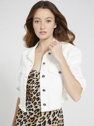 Alice + Olivia Chloe Boxy Cropped Jacket