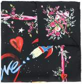Dolce & Gabbana space robot printed scarf
