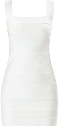 Herve Leger Stretch Jersey Bandage Mini Dress