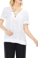 Vince Camuto Women's Lace-Up Linen Blouse
