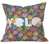 "Deny Designs Bianca Green Yolo 16"" Square Decorative Pillow"