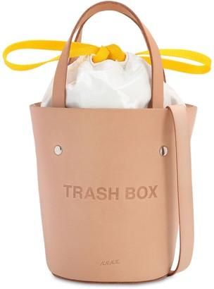 Sm Trash Box Leather Bucket Bag