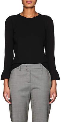 Barneys New York Women's Flounce-Cuff Compact Knit Sweater - Black