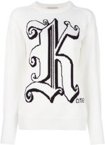 Christopher Kane logo crew neck sweater