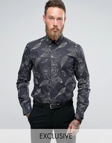 Noose & Monkey Smart Shirt With Floral Print