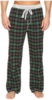 True Grit Vintage Flannel Bowery Check Flannel Pants with Heather Knit Trim