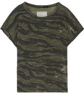 Current/Elliott The Rolled Crew Camouflage-print Cotton-jersey T-shirt