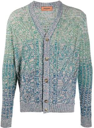 Missoni Gradient Wool Knit Cardigan