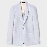 Paul Smith Men's Tailored-Fit Light Blue Linen-Blend Buggy Lined Blazer