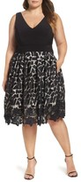 Xscape Evenings Plus Size Women's Lace & Jersey Dress