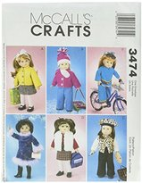 Mccall's M3474 18-Inch Doll Clothes, One Size Only by