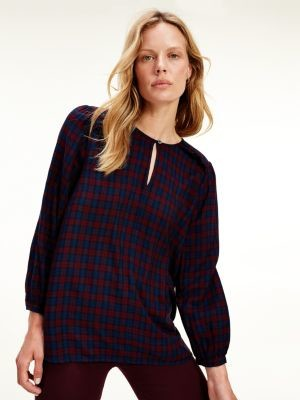 Tommy Hilfiger Relaxed Fit Tartan Blouse
