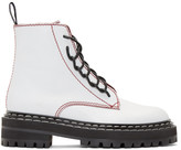 Proenza Schouler White Lace-Up Boots