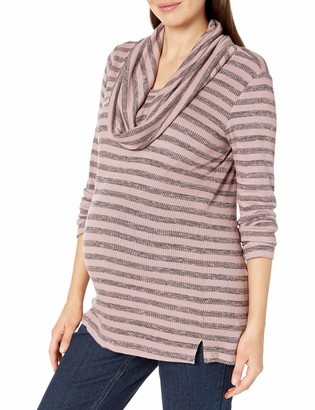 Everly Grey Women's Maternity Cowl Neck Long Sleeve Sweater Top