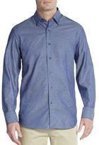Saks Fifth Avenue Regular-Fit Polka-Dot Cotton Sportshirt