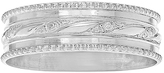 Journee Collection Sterling Silver Milgrain-Accent Band