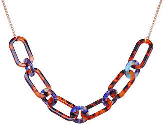 Bijoux Bar Resin 18 Inch Link Link Necklace