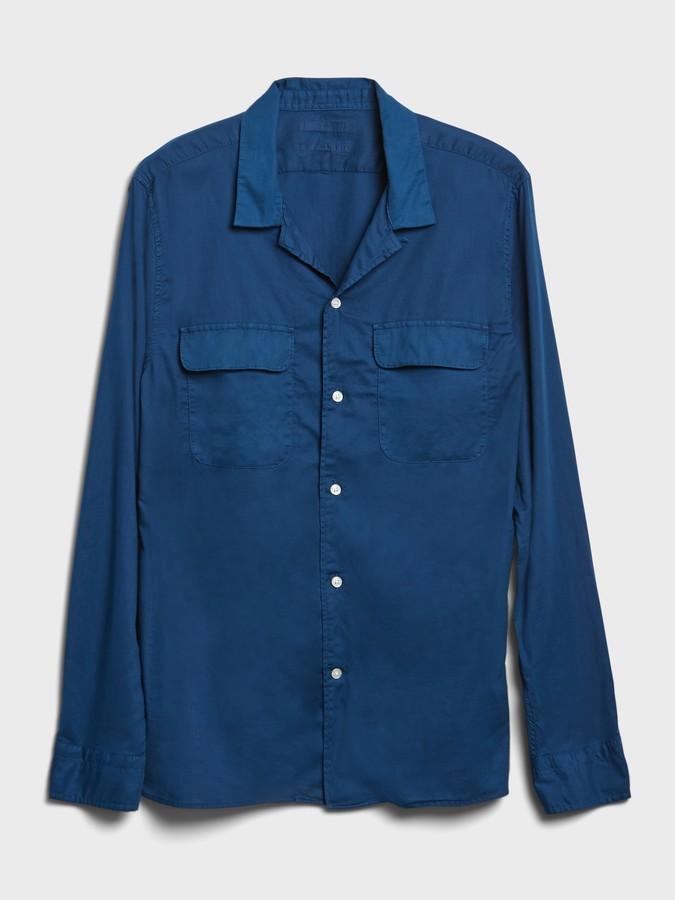 Thumbnail for your product : Banana Republic Slim-Fit Organic Cotton Resort Shirt