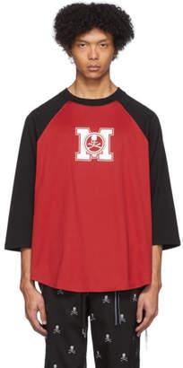 mastermind WORLD Black and Red Baseball T-Shirt