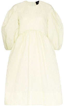 Simone Rocha Puff-Sleeve Smock Dress