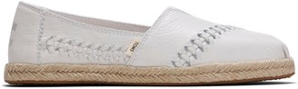 Toms Off White Leather Women's Espadrilles