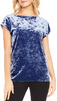 Vince Camuto Cap Sleeve Crushed Velvet Top