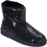 Dearfoams Women's Sequin Velour Boot