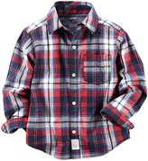 Carter's Plaid Button Down Shirt (Toddler/Kid) - Plaid - 8