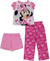 "Disney Minnie Mouse Little Girls' Toddler ""Bows & Polka Dots"" 3-Piece Pajama Set"