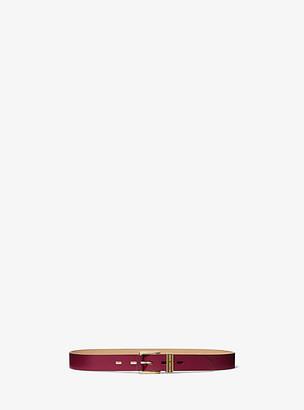MICHAEL Michael Kors MK Skinny Leather Waist Belt - Berry - Michael Kors