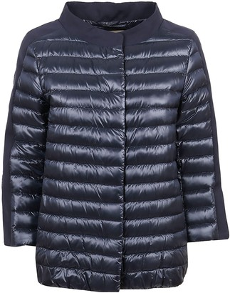 Herno Blue Technical Fabric Padded Jacket