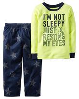 Carter's 2-pc. I'm Not Sleepy Fleece Pajama Set - Baby Boys 12-24m