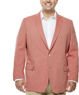 STAFFORD Stafford Red Cotton Sportcoat-Big and Tall