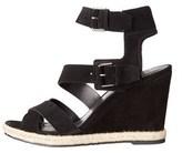 Marc Fisher Womens Karla Open Toe Casual Platform Sandals, Black, Size 8.0.