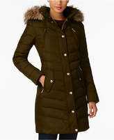 MICHAEL Michael Kors Faux-Fur-Trim Down Coat, A Macy's Exclusive