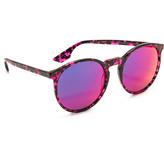 McQ by Alexander McQueen Alexander McQueen Large Round Mirrored Sunglasses