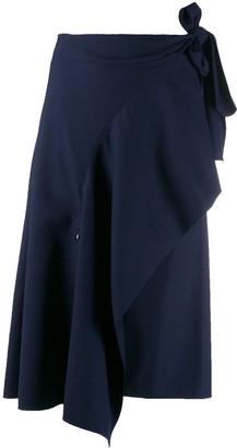 Chloé Asymmetric Draped Skirt
