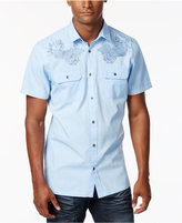 INC International Concepts Embroidered Short-Sleeve Shirt, Created for Macy's