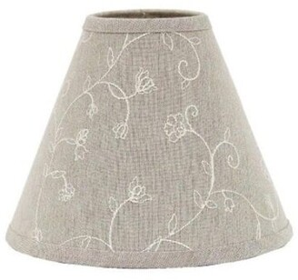 """Ophelia & Co. 14"""" Cotton Empire Lamp Shade (Spider Color: Taupe"""