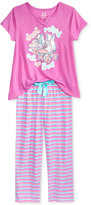 Max & Olivia 2-Pc. Just Rolled Out of Bed Pajama Set, Big Girls (7-16)
