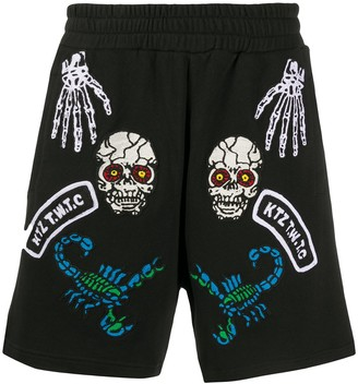 Kokon To Zai Monster embroidered shorts