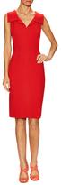 Oscar de la Renta Wool Notch Lapel Dress