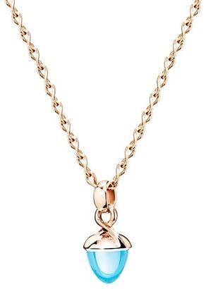 Tamara Comolli Mikado Bouquet 18K Rose Gold & Sky Topaz Acorn Pendant